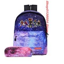 2pcs/set Robloxer Bag casual backpack for teenagers Kids Girls School Bags travel Shoulder Bag Unisex Laptop Bags цена в Москве и Питере