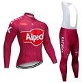 Зима 2020 Команда Катюша Велоспорт Джерси 20D Pad велосипед брюки костюм Ropa Ciclismo термальная флисовая велосипедная Одежда Майо штаны