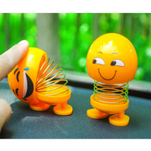 Cute goods combination shaking head doll car decoration spring cute funny car emoticon package cartoon interior jewelry toy head shaking cute cat style toy for car decoration white