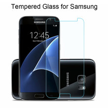 Screen Protector 9H Glass for Samsung Galaxy S2 S3 S4 S5 Mini Tempered Glass for Samsung S6 S7 Glass on Grand Prime G360 G530(China)