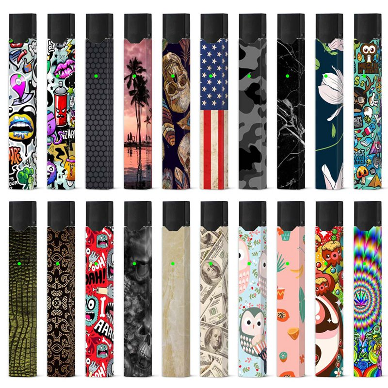 Fashion Sticker For JUUL Electronic Cigarette With 20 Patterns Vape Skin Stickers