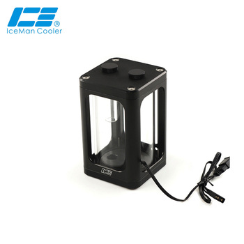 IceManCooler Small Water Tank For Computer Water Cooling ,ARGB Light System ,Support Sync MB,Glass Type Reservoir 120MM