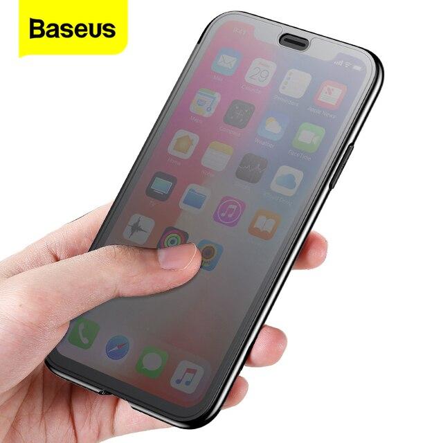 Прозрачный чехол Baseus для телефона iPhone XS Max XR, защитный чехол из закаленного стекла с полным покрытием для iPhone Xs XR Xs Max