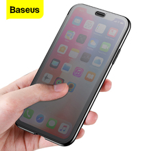 Baseus perspektywa etui na telefon dla iPhone XS Max XR Coque szkło hartowane pełna pokrywa ochronna dla iPhone Xs XR Xs Max Capinhas