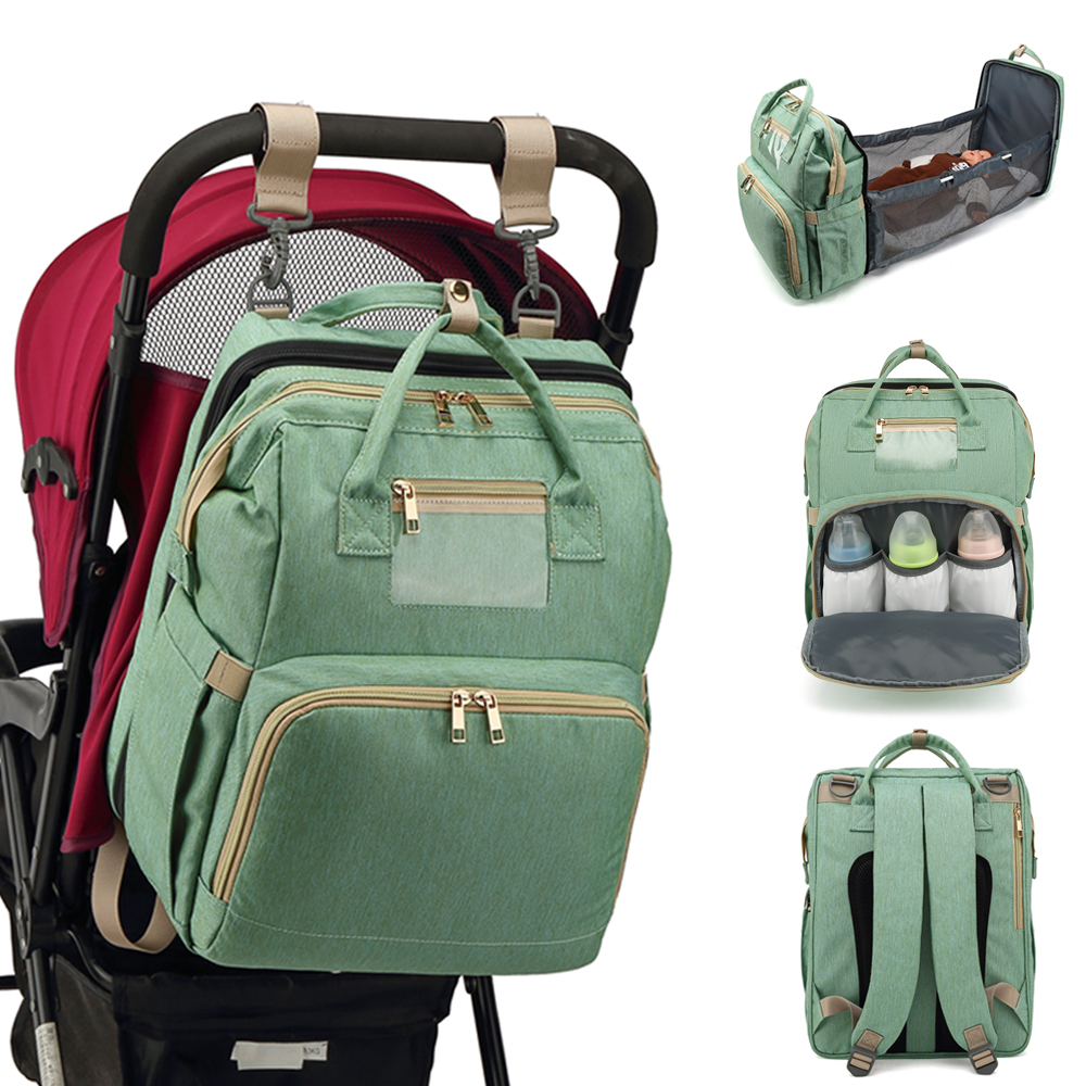 Diaper Bag Moms and Dads Backpack Multifunctional Baby Bed Bags Maternity Nursing Handbag Portable Stroller Travel mummy Bag