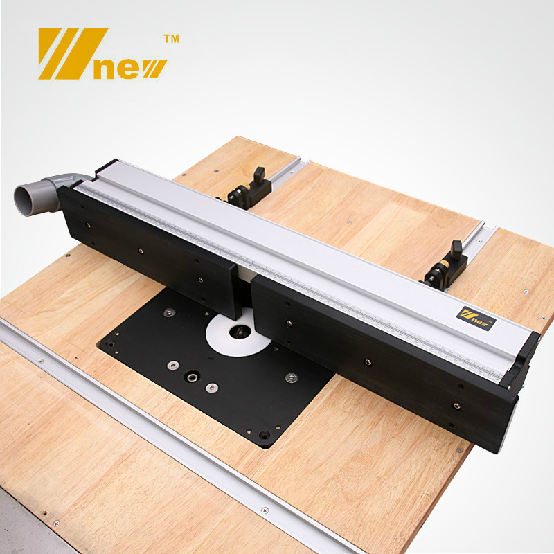1 Set Woodworking Aluminium Profile Fence With Sliding Brackets Tools For Wood Work RouterTable Saw Table DIY Workbenches