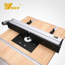 1 ensemble de clôture profilée en Aluminium pour le travail du bois avec supports coulissants outils pour le travail du bois Table de scie RouterTable bricolage établis