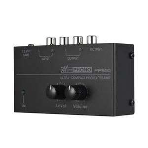 Image 4 - Pp500 ultra compacto volume controles de metal estéreo pré amplificador casa eletrônico portátil com nível áudio phono preamp turntable