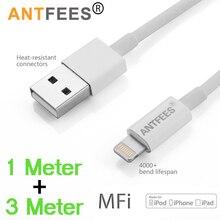 MFI certifié 2.4A 8Pin USB chargeur données synchronisation adaptateur câble fil pour iPhone XS Max XR X 8 7 6s Plus pour iPad cordons de charge rapide