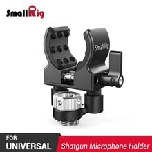 SmallRig DSLR Camera Clamp Shot gun Microphone Holder (ARRI Locating Screw) For Vlogging holds 19-25mm diameter microphone 2368
