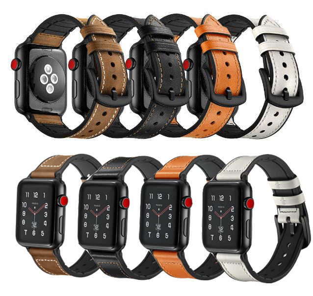 National belt for iwatch strap For Apple Watch Band leather loop 38/42mm 40mm 44mm Series 1/2/3/4