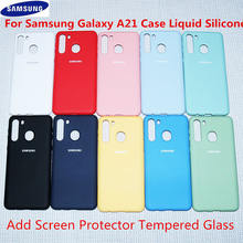 Voor Samsung Galaxy A51 Case Rubber Vloeibare Siliconen Shockproof Soft Case Voor Samsung Galaxy A01 A11 A21 A31 A41 A71 s20 S20 Ultra(China)