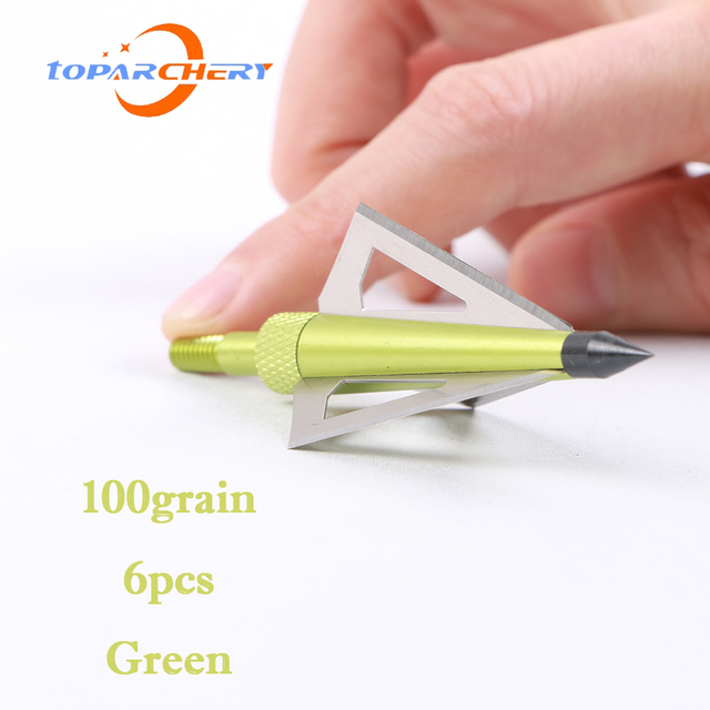 12pcs Arrow Broadheads for Crossbow Longbow Hunting Target Shooting Accessories 100GR 3 Blades Replaceable Silver Arrowhead Tips 5