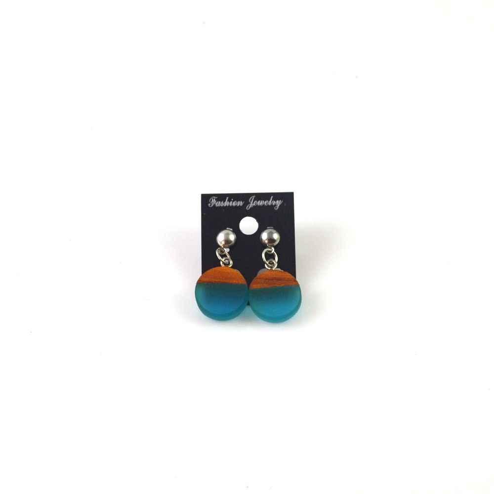 귀 반지 유행 여성의 보석, 선물 도매와 녹색 천연 나뭇결 수지 귀걸이의 패션 새로운 기능.