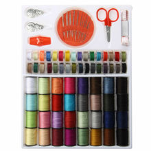 Sewing Thread Set 64pcs Spools Assorted Colors Kit Multi-Function Threads Needles Tools