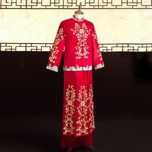 Image 4 - 2020 מכירה מוגבלת חתן טוקסידו הוא חליפה, חתן, אביב קיץ 2020, עתיקות חתונה טאנג גברים של סיני שמלה סיטונאי