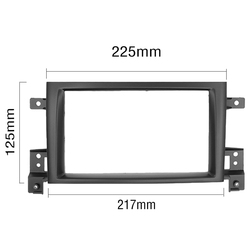 Double 2 DIN Fascia Radio Frame  for SUZUKI GRAND VITARA  Car Radio Frame DVD Panel Dash Kit autoradio 2 din