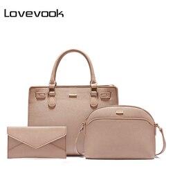 Lovevook bolsa feminina ombro crossbody bolsa feminina mensageiro sacos tote de alta qualidade pu senhoras sacos escola bolsa 2019 designer
