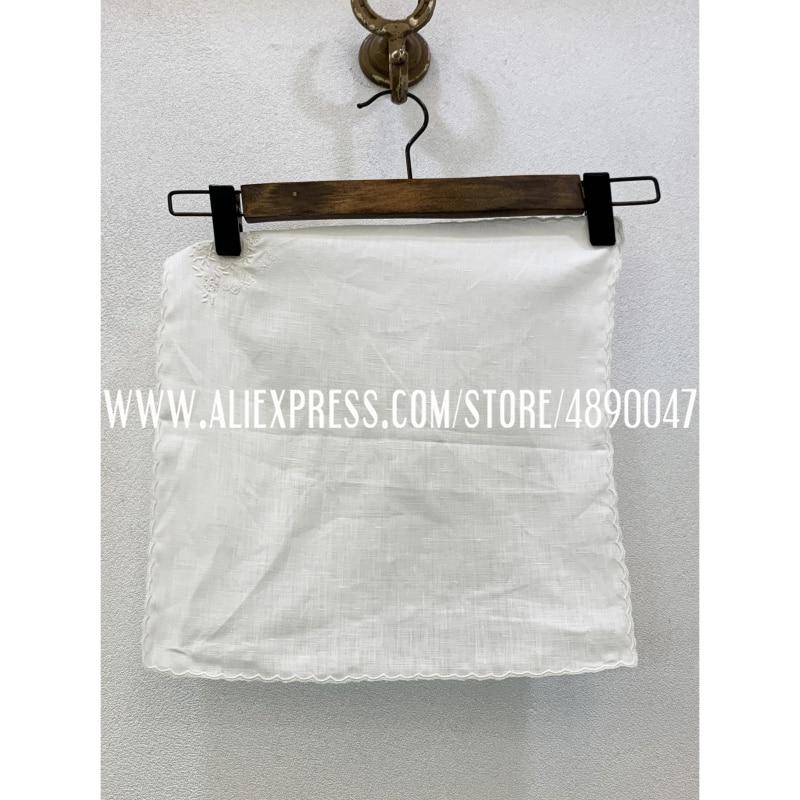 Hot Sale Latest Cotton Pocket Towel Women's New Retro Pocket Towel Decorations Blazer Delicate Embroidery Pocket Towel