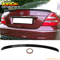 Fit For 02 08 Benz E Class W211 4Dr Trunk Spoiler ABS OEM Painted Match # 040 Black