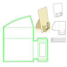 Naifumodo Paper Card Holder Metal Cutting Dies Stitched DIY Scrapbooking Stamps Craft Embossing Die Cut Making Stencil Template