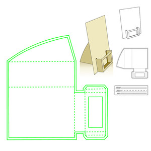 Image 1 - Naifumodo Paper Card Holder Metal Cutting Dies Stitched DIY Scrapbooking Stamps Craft Embossing Die Cut Making Stencil Template