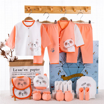 18 Piece/lot Newborn Baby Gift Set Combed Cotton Clothes Infant Girl Rompers Pure Suits Soft Autumn Boys Clothing Without Box - 18pcs-E, Newborn