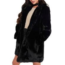 Winter Fake fur Women Furry Coat Teddy Faux Fur Shaggy Full Turn-down Collar Open Stitch Slim Thick Warm Plus Size