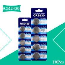 10 pçs cr2430 botão bateria pilha moeda baterias de lítio cr 2430 para relógio eletrônico brinquedo remoto dl2430 3v cr 2430 br2430 kl2430