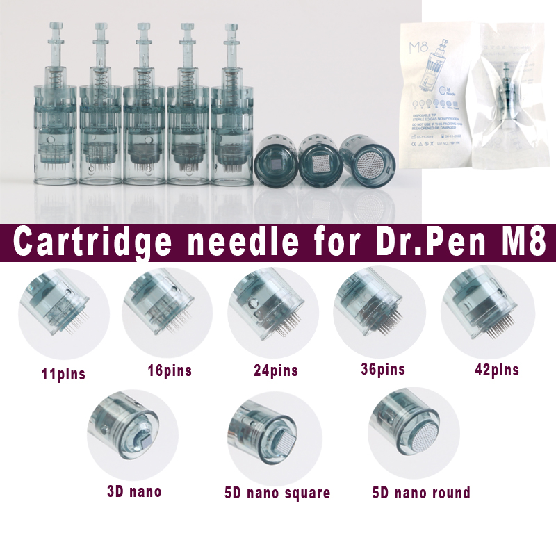 Dr. Pen M8 Needle Cartridge Electric Derma Pen Bayonet Cartridges 11 16 24 36 42pins / Nano Needle Micro Skin Needling Tip