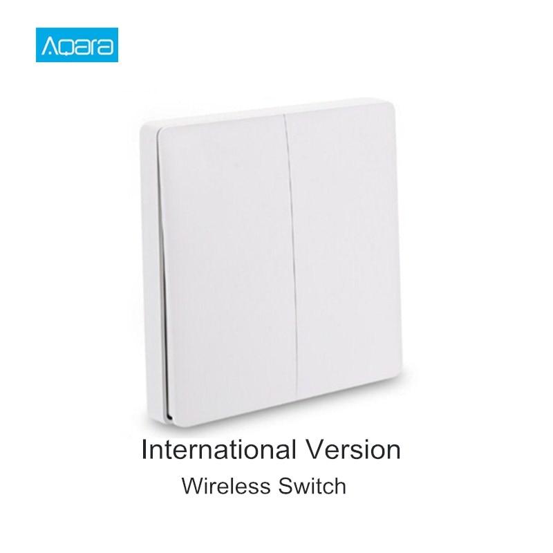 International Version Aqara Smart Switch Light Remote Control ZiGBee Wifi Wireless Key Wall Switch Work With Mijia Mi Home APP
