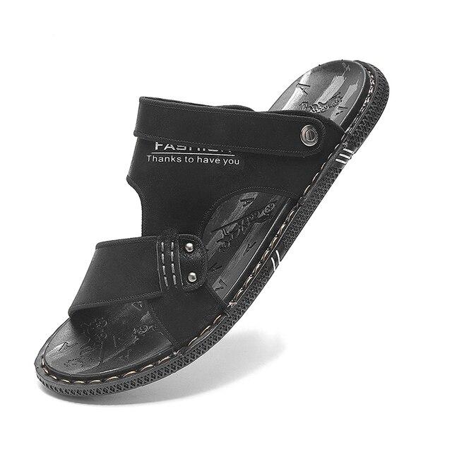 Фото модные летние шлепанцы tantu для мужчин дышащие уличные сандалии