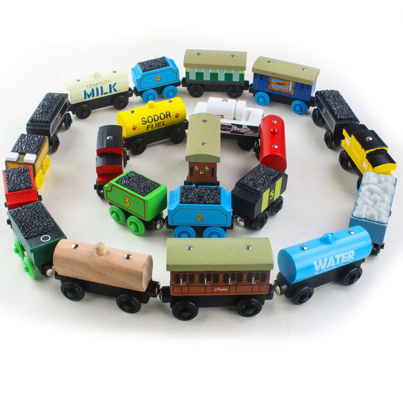 Rare Thomas And Friends Magnetic Wooden Train Model Connectable Magnetic Transportation Toy, Suitable For Children's Birthday Pr