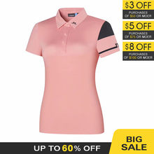 golf women Short Sleeve Shirt Summer Slim-Fit wear comfortable and breathable 3 colors
