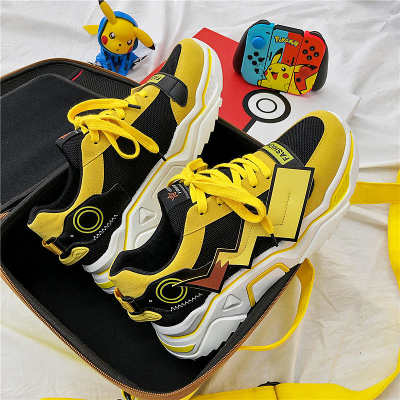 Anime Pikachu Shoes Pokemon Cosplay Men Women Cartoon Couple Shoes Flats Lovers Breathable Casual Running Sneakers
