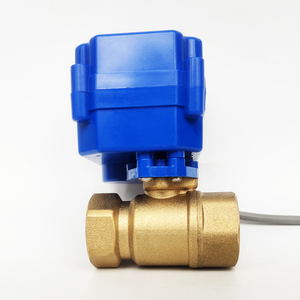 """Image 2 - 3/4"""" Brass electric actuated valve , DC12V morotized valve 3 wire (CR02) control, DN20 Electric valve for fan coil"""