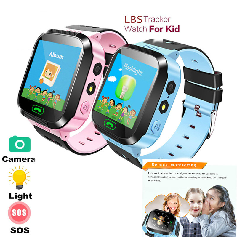 Smart Watch With Camera Flashlight Baby Watch SOS LBS Call Location Device Tracker Finder For Kid Safe Children Girls Gifts Boys