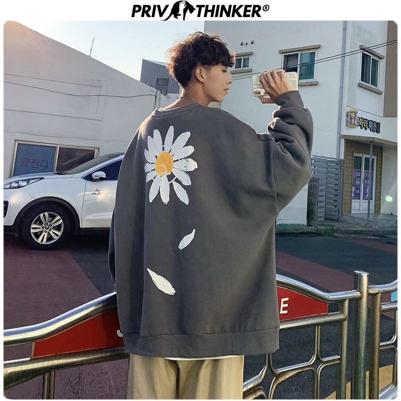 Privathinker Mens Woman New O-Neck Printed Autumn Spring Hoodies Men 2020 Korean Sweatshirt Male Warm Oversize Pullover Clothes