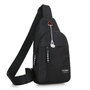 Men Shoulder Bags Nylon Waist Packs Sling Bag Crossbody Outdoor Sport Shoulder Chest Daily Picnic Canvas Messenger Bag Bolsa