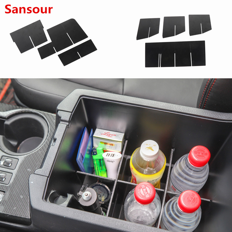 Sansour For <font><b>Toyota</b></font> <font><b>4Runner</b></font> <font><b>2010</b></font>- 2019 car Center Console Organizer Tray Plastic Black brand new and high quality accessory part image