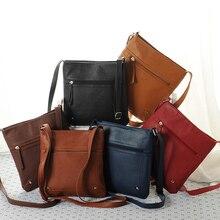 New Fashion Women PU Leather Cross Body Bag Brand Designers Lady Satchel Shoulde