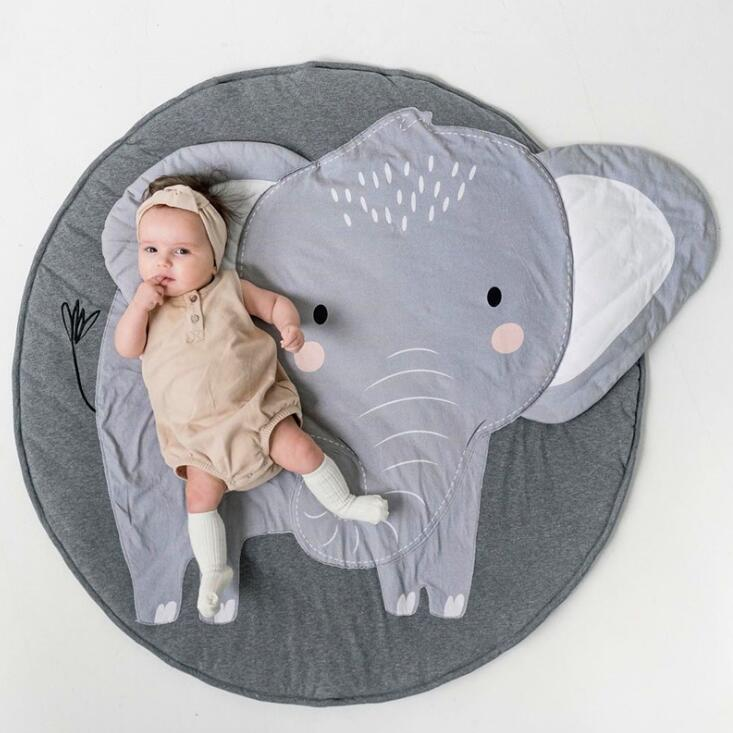H8e11c99c9d5e458fb9511c5ff344c79dr Baby play Mats Animal climbing carpet infant Crawling Blanket Round Carpet Rug Toys Mat For Children Room Decor Photo Props
