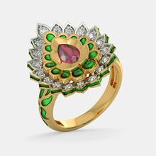 Vintage Red CZ Flame Water Drop Rings For Women Yellow Gold Color Luxury Ethnic Banquet Wedding Engagement Ring Trendy Jewelry