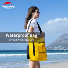 Naturehike 30L Swimming Bag Dry Wet Shoulder Bag Multi Functional Beach Pool Pouch Waterproof PVC Fashion Bag Travel Daily Use