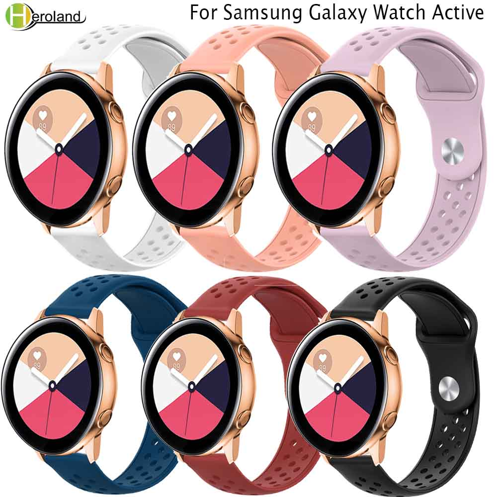 Sport 20mm Silicone For Samsung Galaxy Watch Active Band/active2 Bracelet For Garmin Vivoactive 3 Forerunner 245 245M Wriststrap