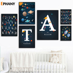 Space Themed Nursery Wall Art Prints Be Solar Systerm Canvas Painting Posters Baby Boy Gift Kids Room Decoration Picture