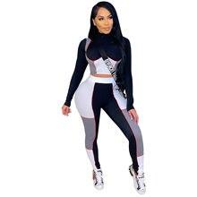 Conjunto de dos piezas formado por Top y pantalón largo, para mujer, Camisa de manga completa, ropa deportiva