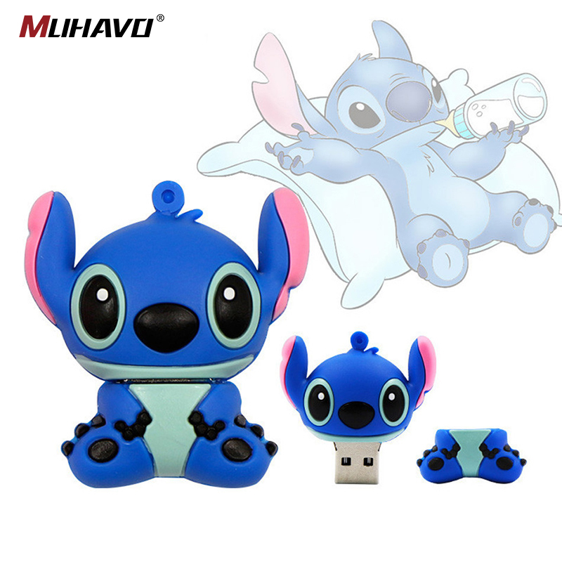 New Fashion Usb Flash Drive 128GB 64GB 32GB Pen Drive  Cute Cartoon Usb Memory Stick Pendrive 16gb 8gb 4gb Flashdrive U Disk