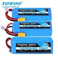 RC grafeno batería Lipo 2S 7,4 V 3 11,1 V 4S 14,8 5S 18,5 V 6S 22,2 V 5000mAh 100C XT60 XT90 para RC auto helicóptero