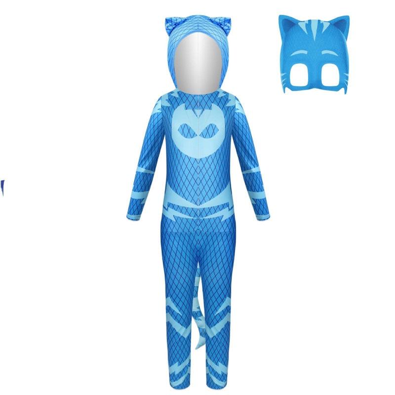 2021 New Halloween children cartoon cat boy costume children hero jumpsuit costume Halloween children costume 5